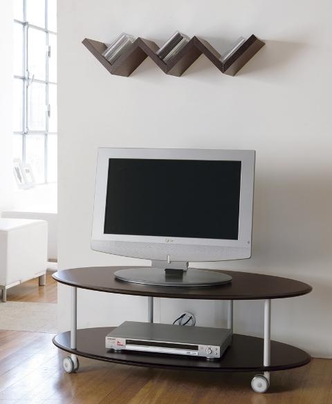 Carrelli Porta Tv Lcd.714003 Relax Carrello Porta Tv Su Ruote Piani In Mdf Laccato Made In Italy